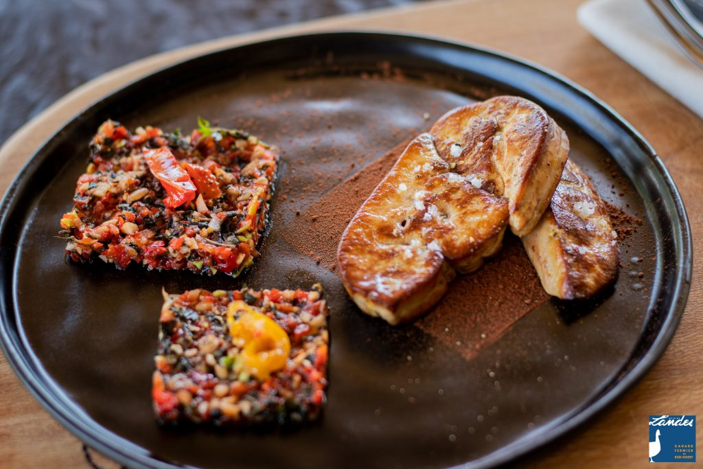 Recette de Foie gras de canard fermier des landes et piquillos au chocolat