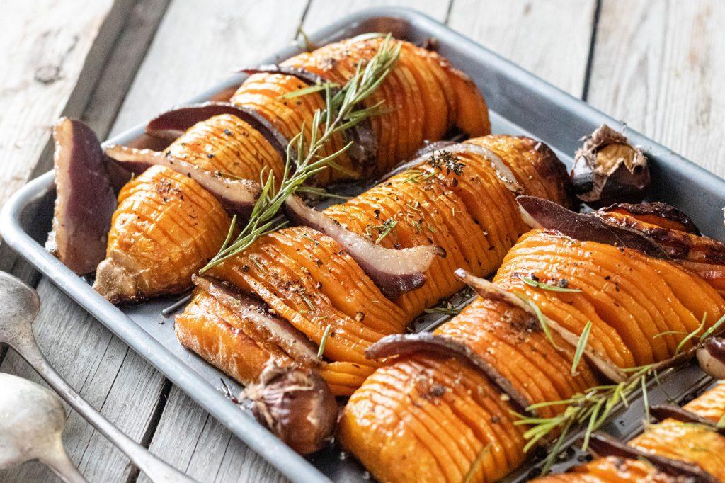 Pey : recette de butternut rôti au four au magret fumé