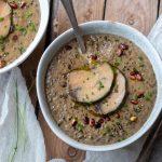 Recette de Foie-Gras mi-cuit de Canard Fermier des Landes et son velouté de lentilles vertes