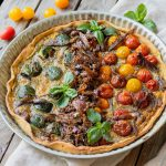 Recette de tarte au Confit de Canard Fermier des Landes, courgettes et tomates cerises